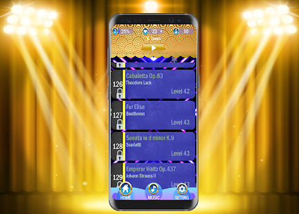 Gold Piano Tiles - náhled