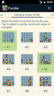 Four in a Row Puzzles- screenshot thumbnail