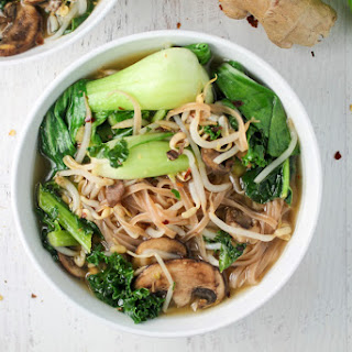 Bok Choy and Brown Rice Noodle Bowl.