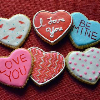 Sugar-free Valentines Cookies