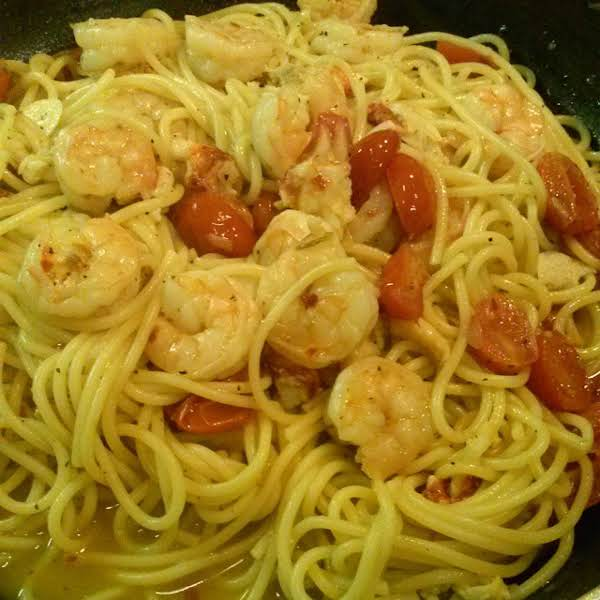 From Instagram: Lobster And Shrimp With Spicy Garlic Tomato Spaghetti Http://instagram.com/p/tboraalsmj/