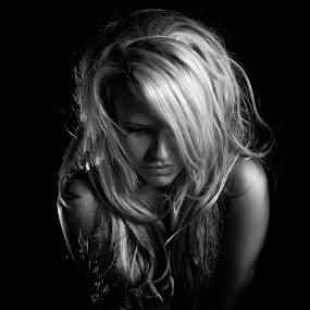 by Victor Harris - People Portraits of Women ( blonde, b&w, nude, topless, girl, woman, black & white, beautiful, carolyn arrowsmith, lady, beauty, portrait )