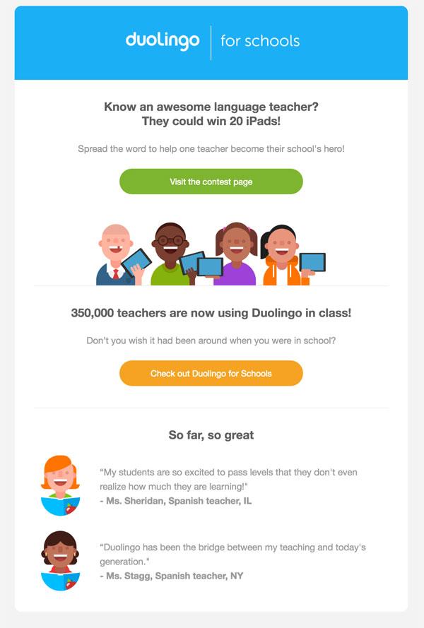 e-mail de criação de leads