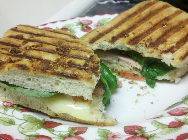 Place top bread on top and brush with olive oil. Preheat Panini press or...