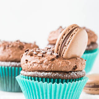 Chocolate Cupcakes with Chocolate Mousse Frosting.