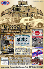 """Photo: Bruce Wheeler's photos from the May 22, 23 & 24, 2015 Drag Races at Maui Raceway Park.  PLEASE NOTE: these images are fully copyrighted, by the photographer. Usage for any purpose whatsoever without formal permission is prohibited by law. (IN OTHER WORDS; try ask fo' use 'em...please.)  DVDs of all of the full-size, high resolution images are available dirt cheap. For pricing, please inquire c/o wheelerdealer @ maui-angels . com  For Maui Raceway Park track info online: http://www.mrp.org  For Maui Raceway Park on Facebook: https://www.facebook.com/maui.raceway.park?fref=ts  To see all of my online Maui drags and travel photography albums go here: https://plus.google.com/u/0/photos/+BruceWheeler/albums  Please visit my Wheeler Dealer AA/Fuel Dragsters web pages: http://www.maui-angels.com/wheelerdealer  And, please """"like"""" the Wheeler Dealer Facebook page: https://www.facebook.com/pages/Bruce-Wheelers-Wheeler-Dealer-AAFuel-Dragsters/119133934834675?ref=ts&fref=ts  Poster art Mark Caires Designs"""