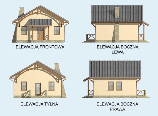La Lora szkielet drewniany dom letniskowy - Elewacje