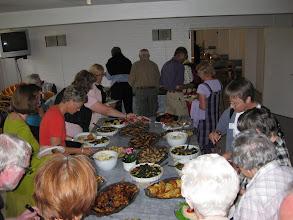 Photo: Vi nød den dejlige søndagsfrokost på Løgumkloster Højskole.