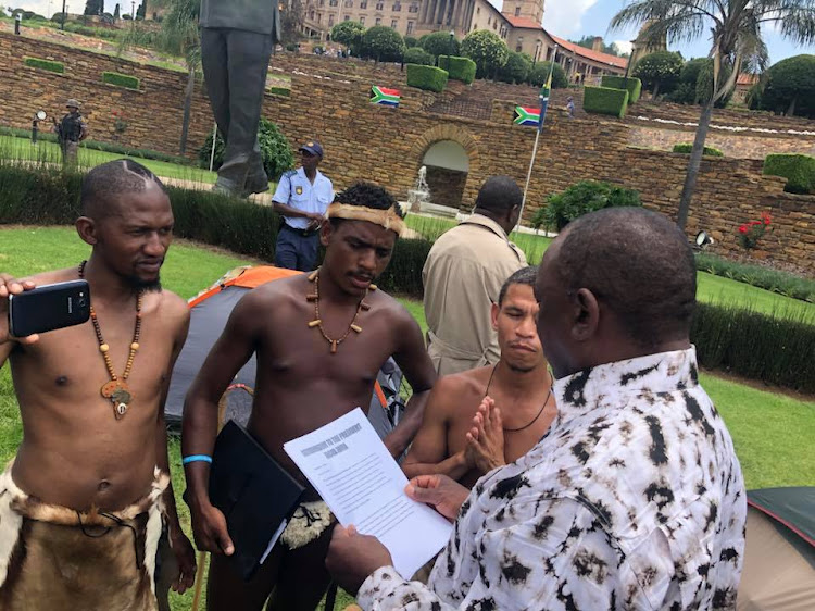 Deputy President Cyril Ramaphosa met with the four Khoisan men' who had walked more than 1'200km to demand that their voices be heard.