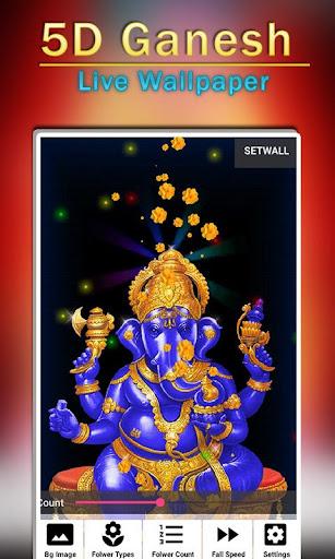 5D Ganesh Live Wallpaper - Lord Ganesh, Hindu gods 1.0.3 screenshots 5