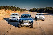 The VW Amarok, Ford Ranger Raptor and Mercedes X-Class face off.