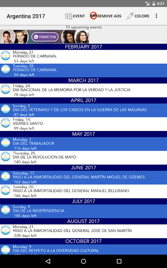 Calendario Feriados Argentina- screenshot