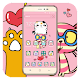 Pink cartoon cat cute icon theme for PC-Windows 7,8,10 and Mac