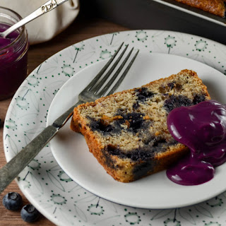 Blueberry-Juniper Rye Cake with Blueberry Curd.