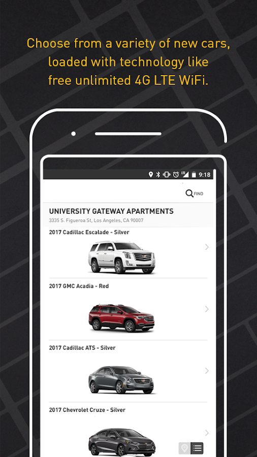 Maven - Car sharing- screenshot