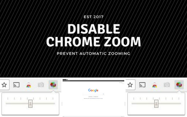 Disable Chrome Zoom
