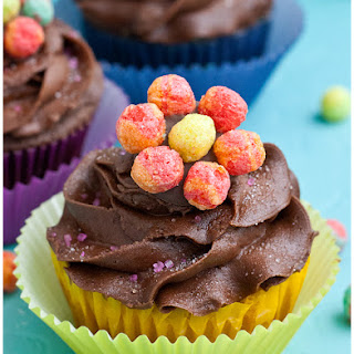 Trix Cereal Flower Cupcakes.