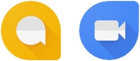 Google Allo en Google Duo pictogram