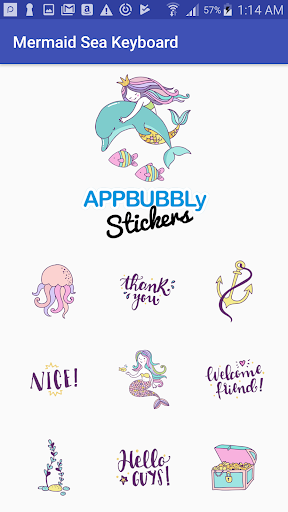 Screenshot for Beautiful Mermaid Keyboard Stickers for Gboard in Hong Kong Play Store