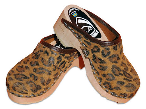 Barnträskor Classic Leopard