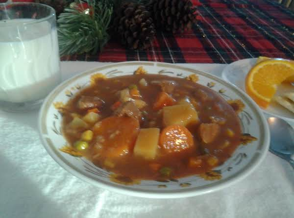 Pork Stew Crock Pot Style Recipe