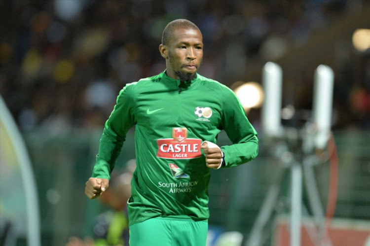 Kamohelo Mokotjo during the International friendly match between South Africa and Angola at Buffalo City Stadium on March 28, 2017 in East London, South Africa.