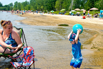 Photo: Enjoying the beach at Alburgh Dunes State Park by Amy Chess
