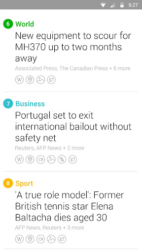 Yahoo News Digest screenshot