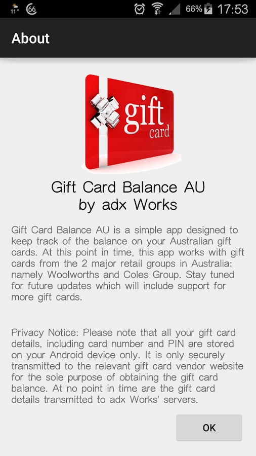 Gift card balance android apps on google play gift card balance screenshot negle Image collections