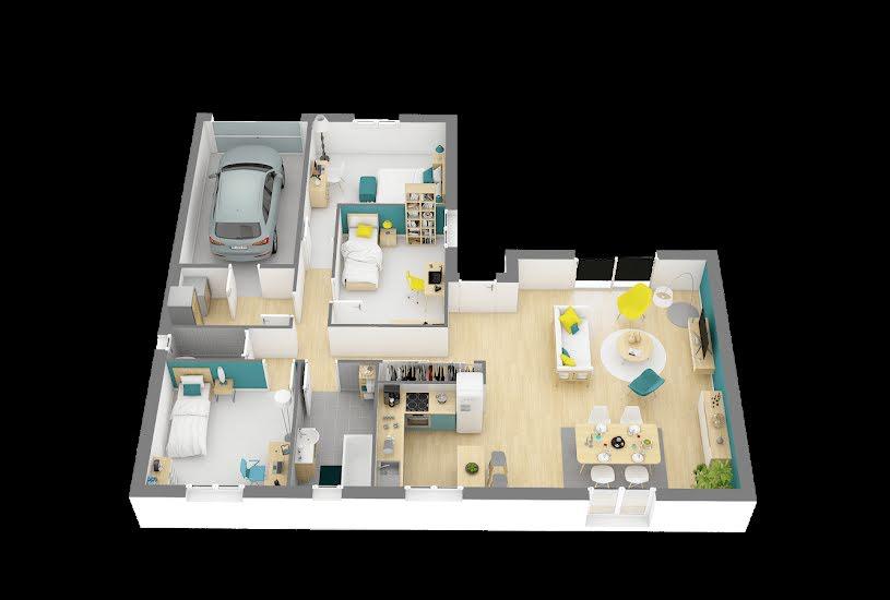 Vente Terrain + Maison - Terrain : 1052m² - Maison : 92m² à Saint-Germain-sur-Ay (50430)