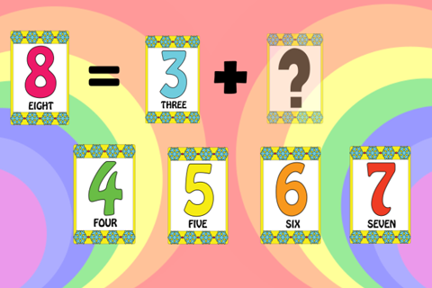 匹配数学教育酷好玩游戏的孩子们