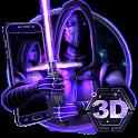 3D Galaxy Wars Star Theme icon