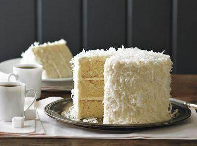 Buttercream Frosting On Coconut Cake- William Sonoma.