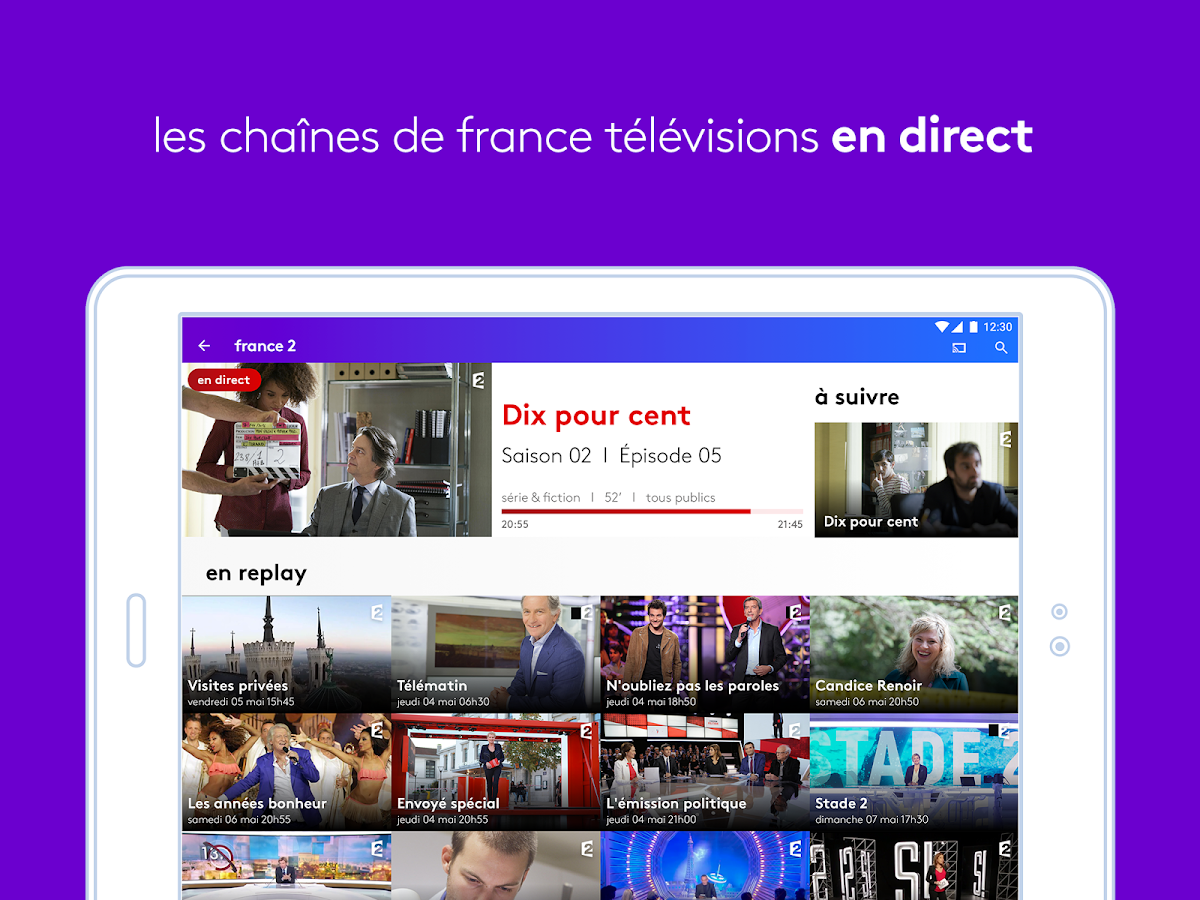 france tv direct et replay applications android sur google play. Black Bedroom Furniture Sets. Home Design Ideas