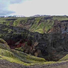 Markafljótsglúfur-1 by Palmi Vilhjalmsson - Landscapes Mountains & Hills ( mountain trail, iceland, hiking, laugarvegurinn, hiking in iceland )