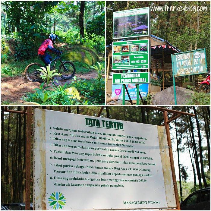 Olahraga Bersepeda, Arah ke Permandian Air Panas Gunung Pancar, Peraturan yang seperti nya hanya lah formalitas