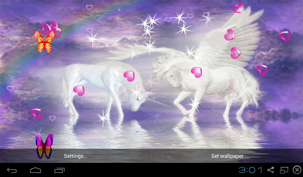 Unicorn horse wallpaper 3d