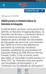 Notícias da OAB Bahia screenshot 4