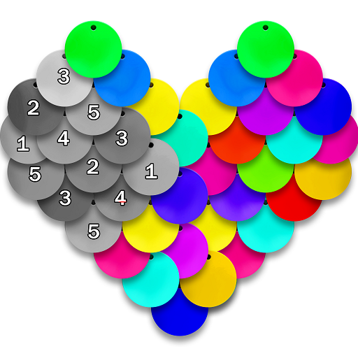 Sequin Art Flip Simulator 2019 - Color by Number Icon