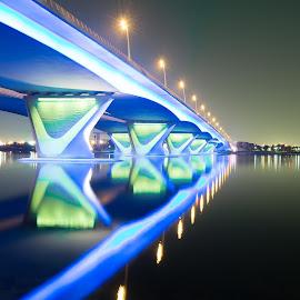Under the Bridge by Myman Cañete - Buildings & Architecture Bridges & Suspended Structures ( night photography, long exposure, bridge )