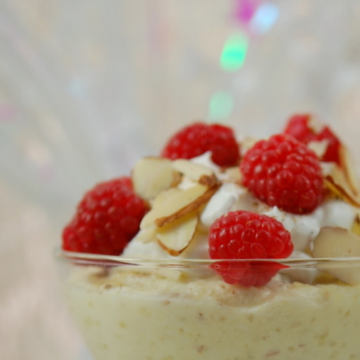 Almond Pudding with Raspberry Sauce Recipe