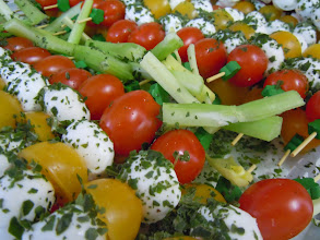 Photo: Brochette de tomates et mozzarella