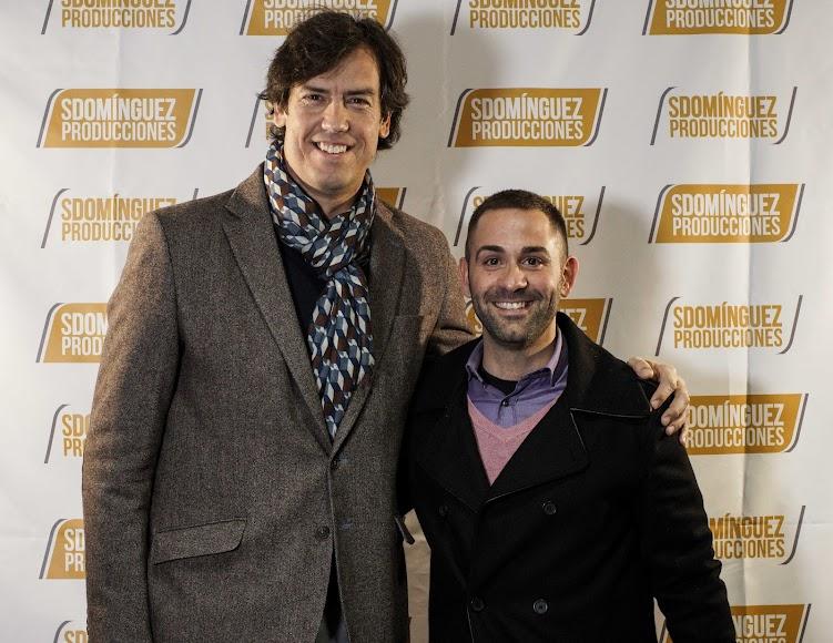 Salvador, director de Deportes de Diputación, con Domínguez.