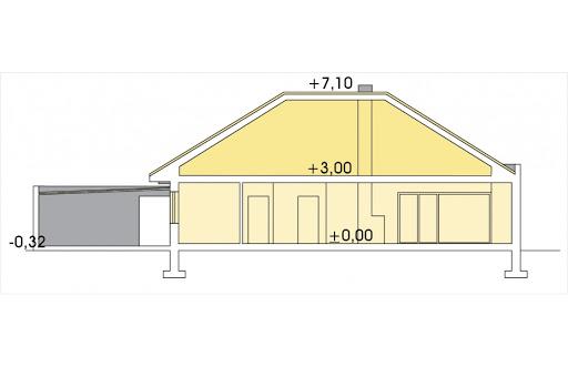 Alabama 4 wersja D podwójny garaż - Przekrój