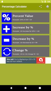 Percentage Calculator 2017 - náhled