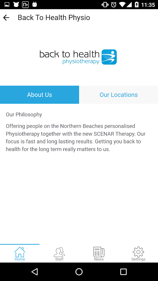 Back to Health Physiotherapy- screenshot