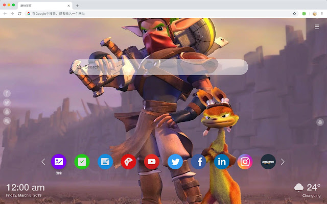 Jack and Dast Popular games HD Themes