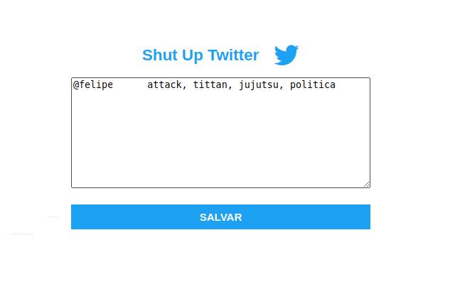 ShutUp Twitter