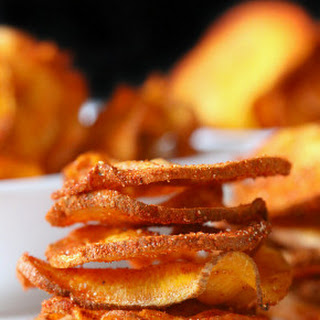 Microwave Chipotle Sweet Potato Chips