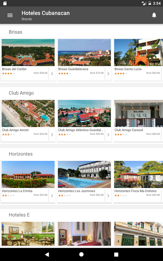 Hoteles Cubanacan- screenshot